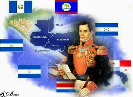 Resultado de imagen para independencia de centroamerica mapa