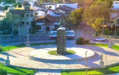 Plaza Gral San Martín de la Ciudad de Río Cuarto, Provincia de Córdoba