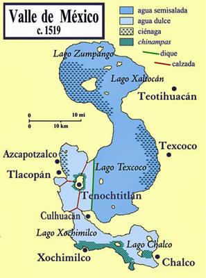 Resultado de imagen para tenochtitlan mapa